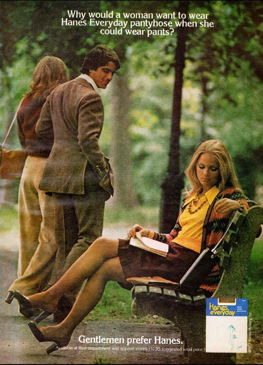 """The """"Sexist"""" Gentlemen Prefer Hanes Adverts of the 1970s and"""