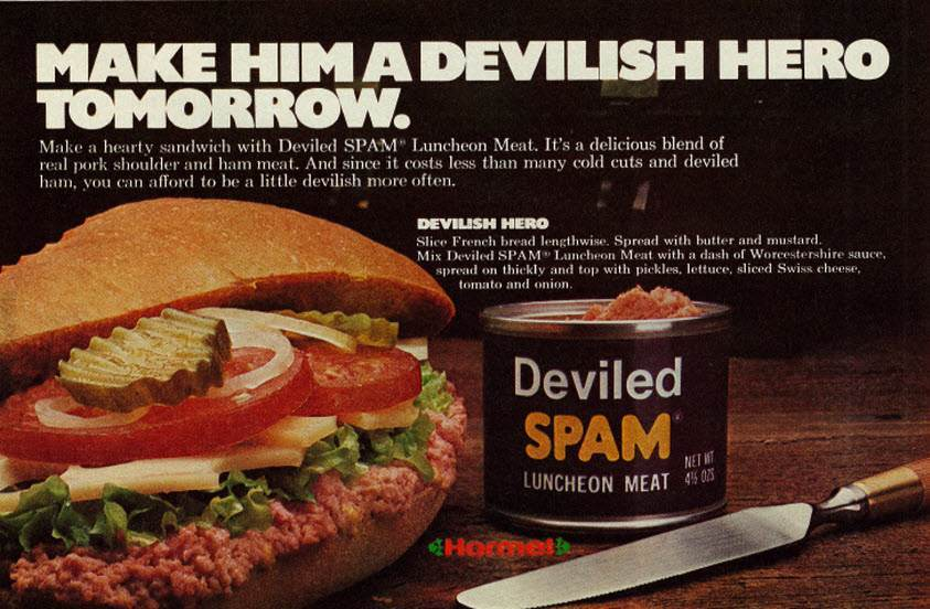 1977 Food Ad, Hormel Deviled Spam