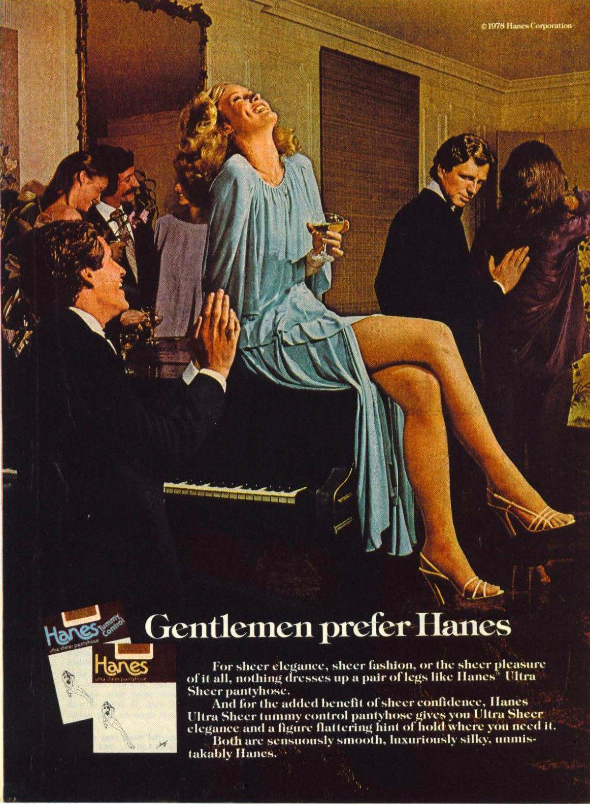The Sexist Gentlemen Prefer Hanes Adverts Of The 1970s