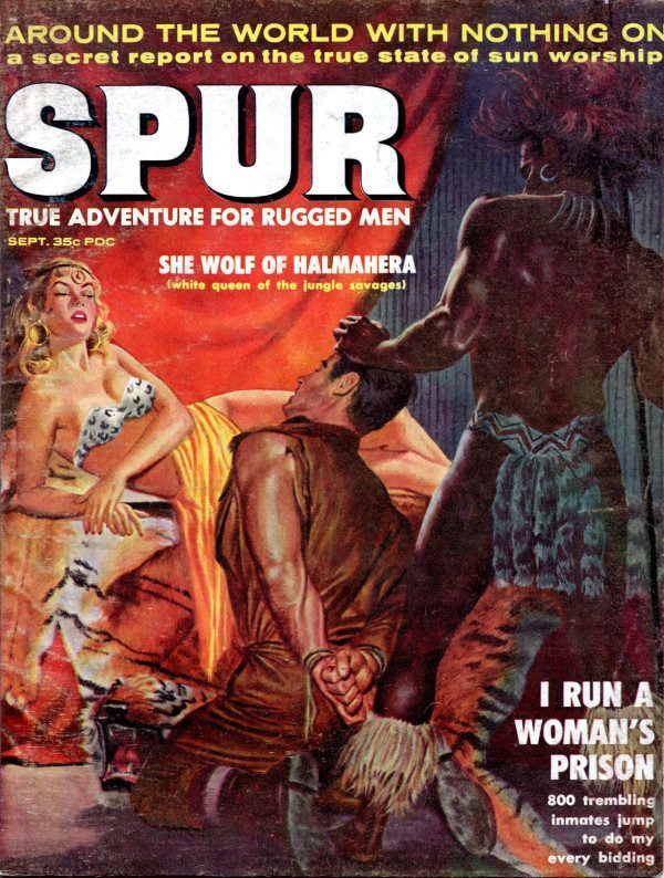 When Natives Attack White Damsels And Jungle Savages In Pulp Fiction - Flashbak-2084