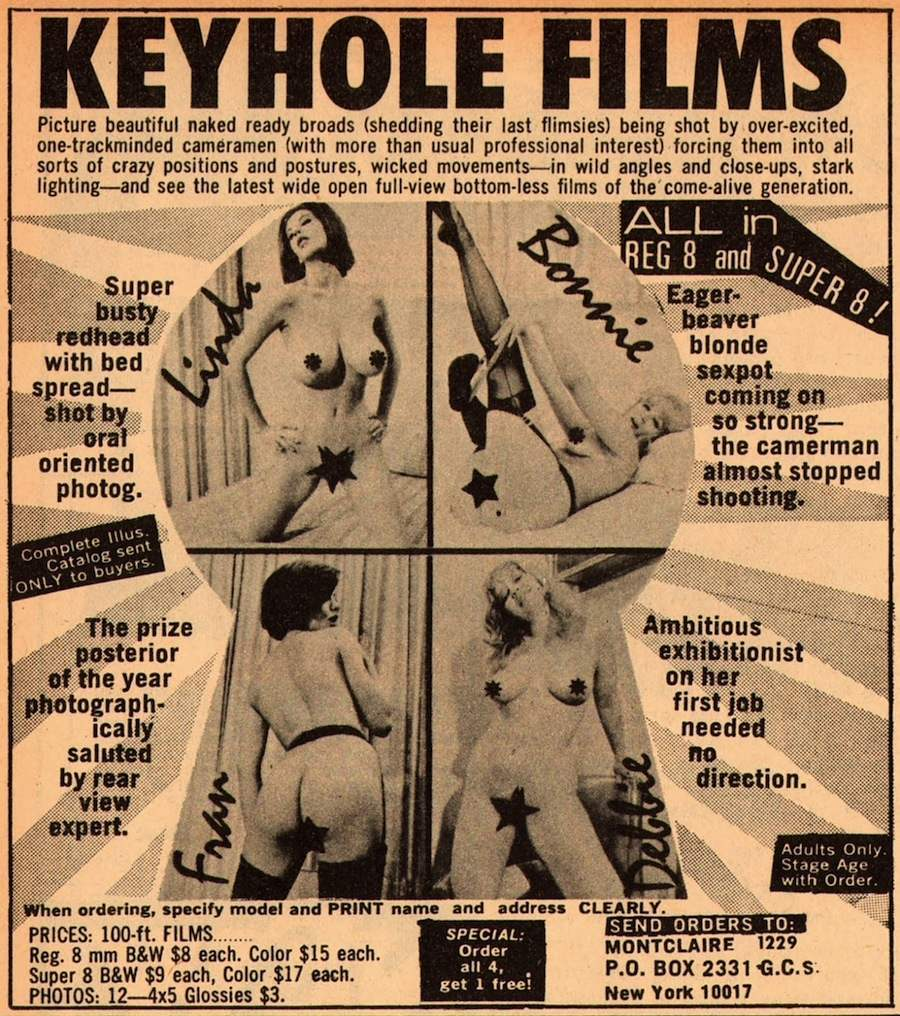 Vintage porn mag adverts