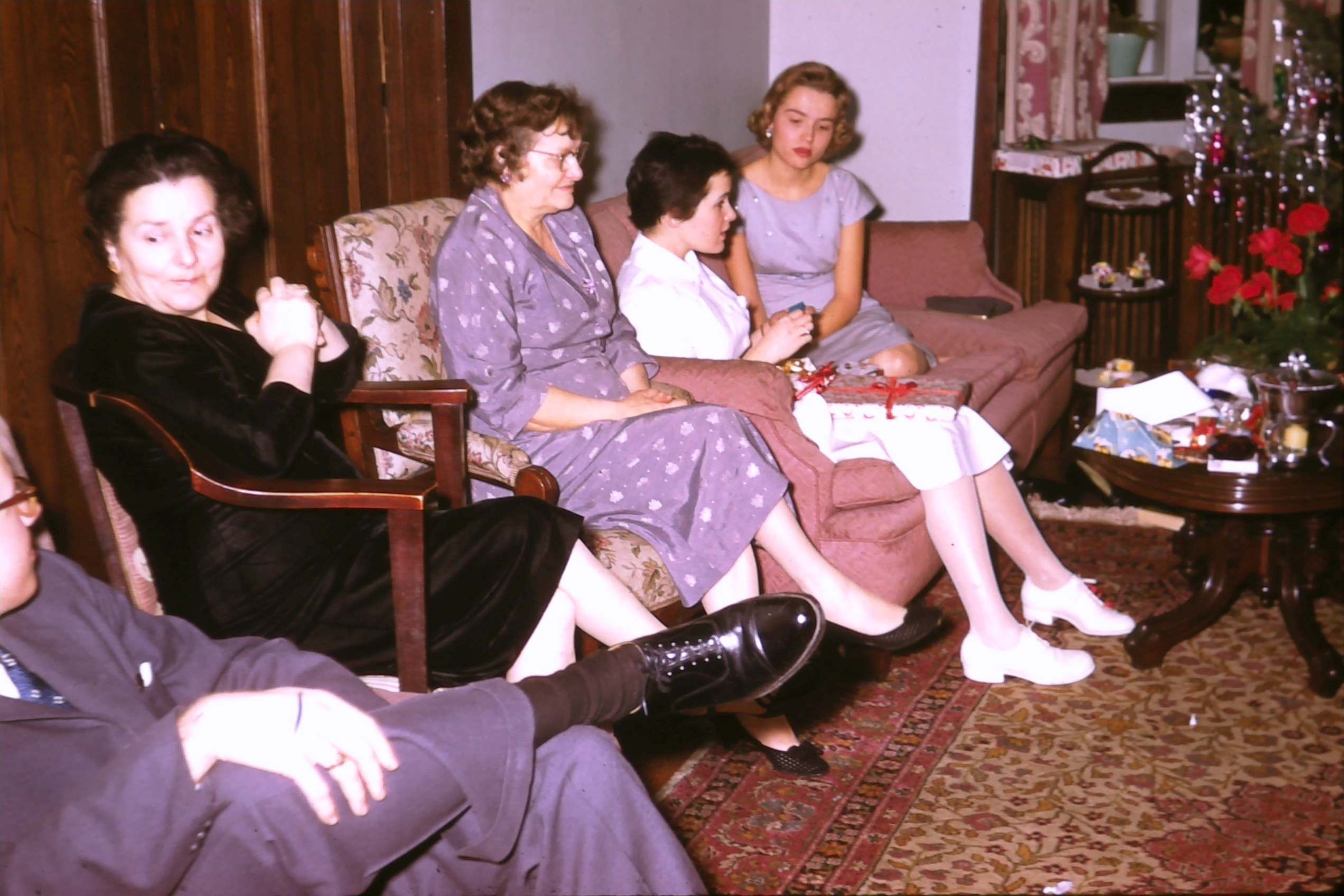 Christmas in 1957 4 women