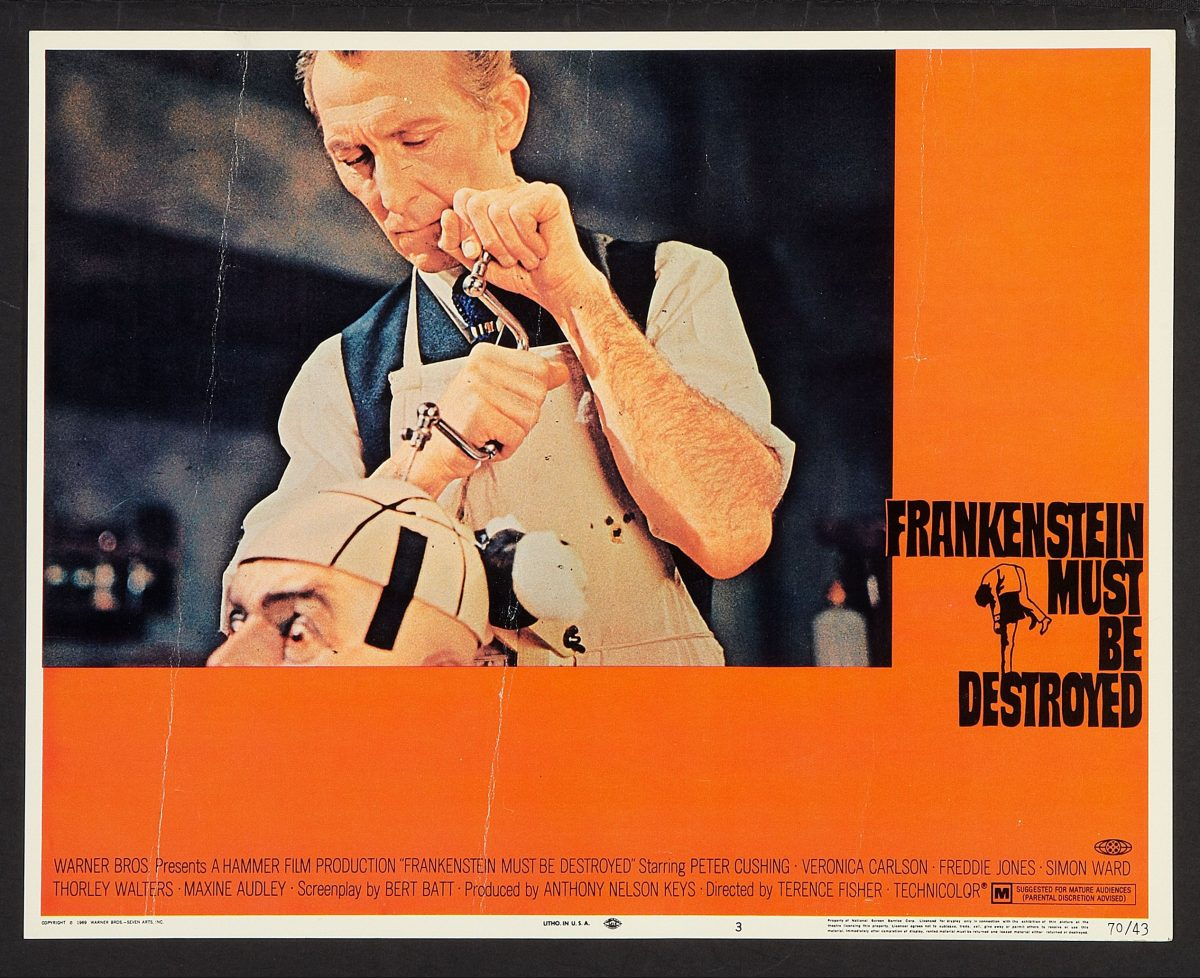 Peter Cushing Dr Frankenstein Awesome POSTER
