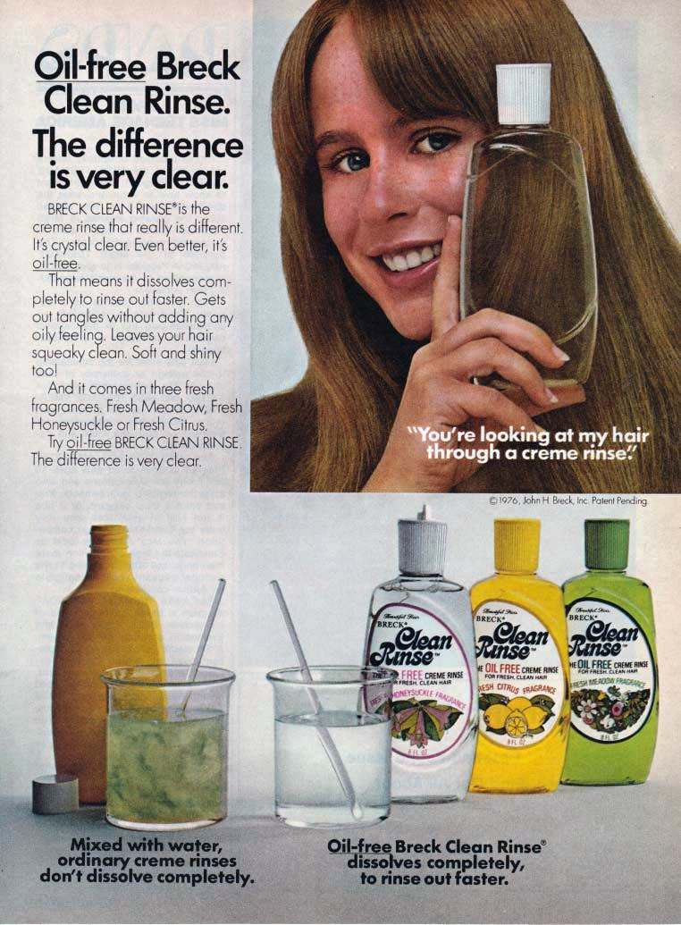 GLYNNIS O'CONNOR BRECK CLEAN RINSE AD 1977