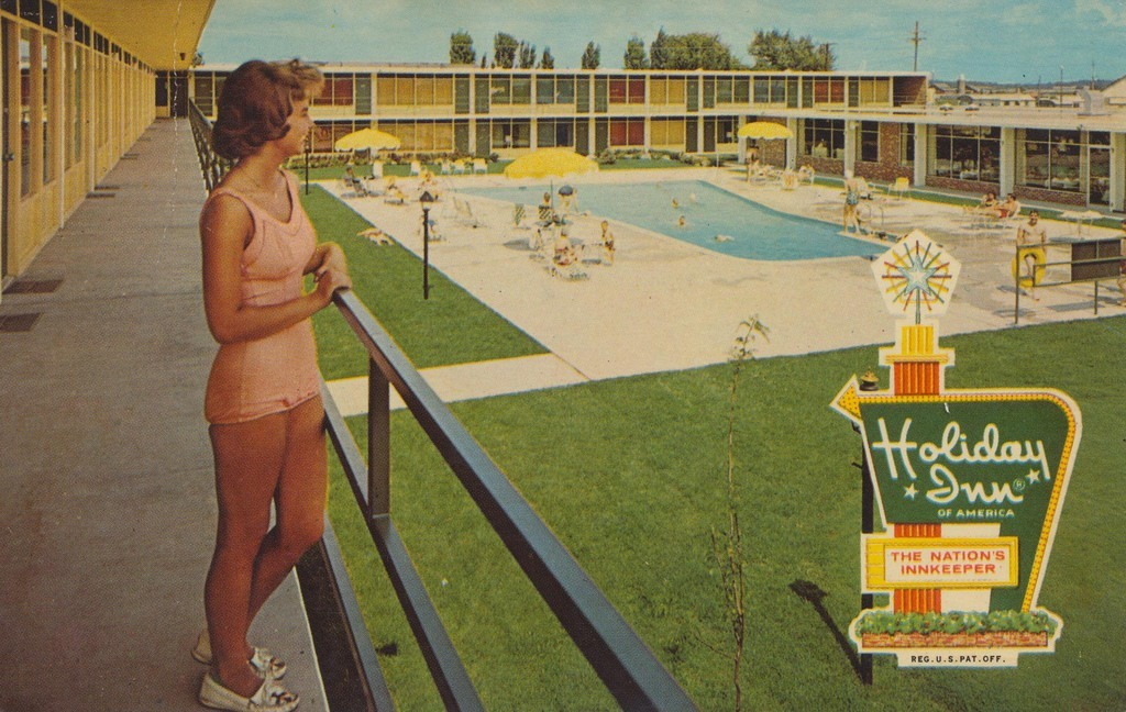 Twenty Humdrum Holiday Inn Postcards From The Fifties And Sixties Flashbak