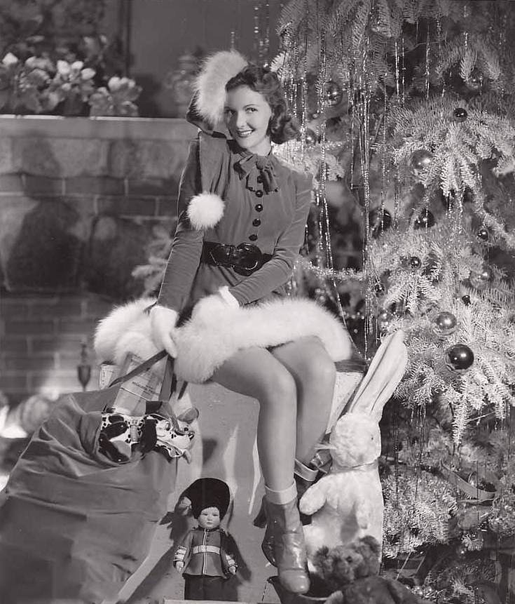 u0026 39 tis the season for vintage christmas pin-up girls