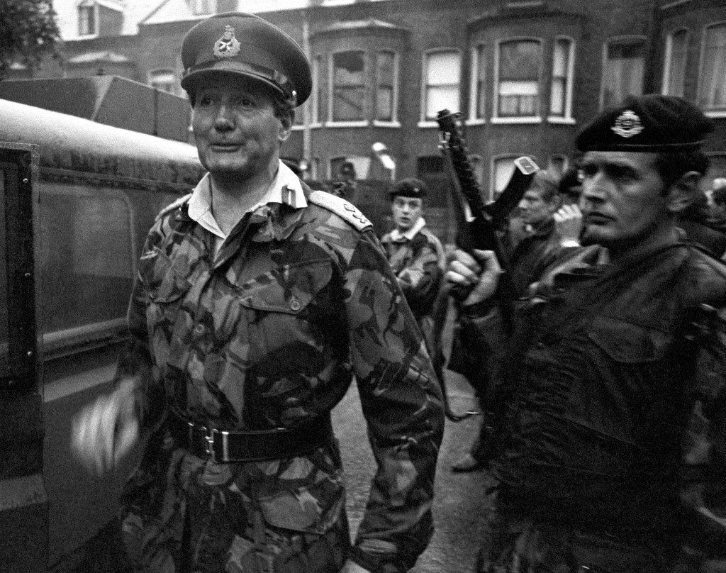 General Sir Robert Ford, Britain's Commander of Land Forces in Northern Ireland, pictured on July 3, 1972, in Belfast.