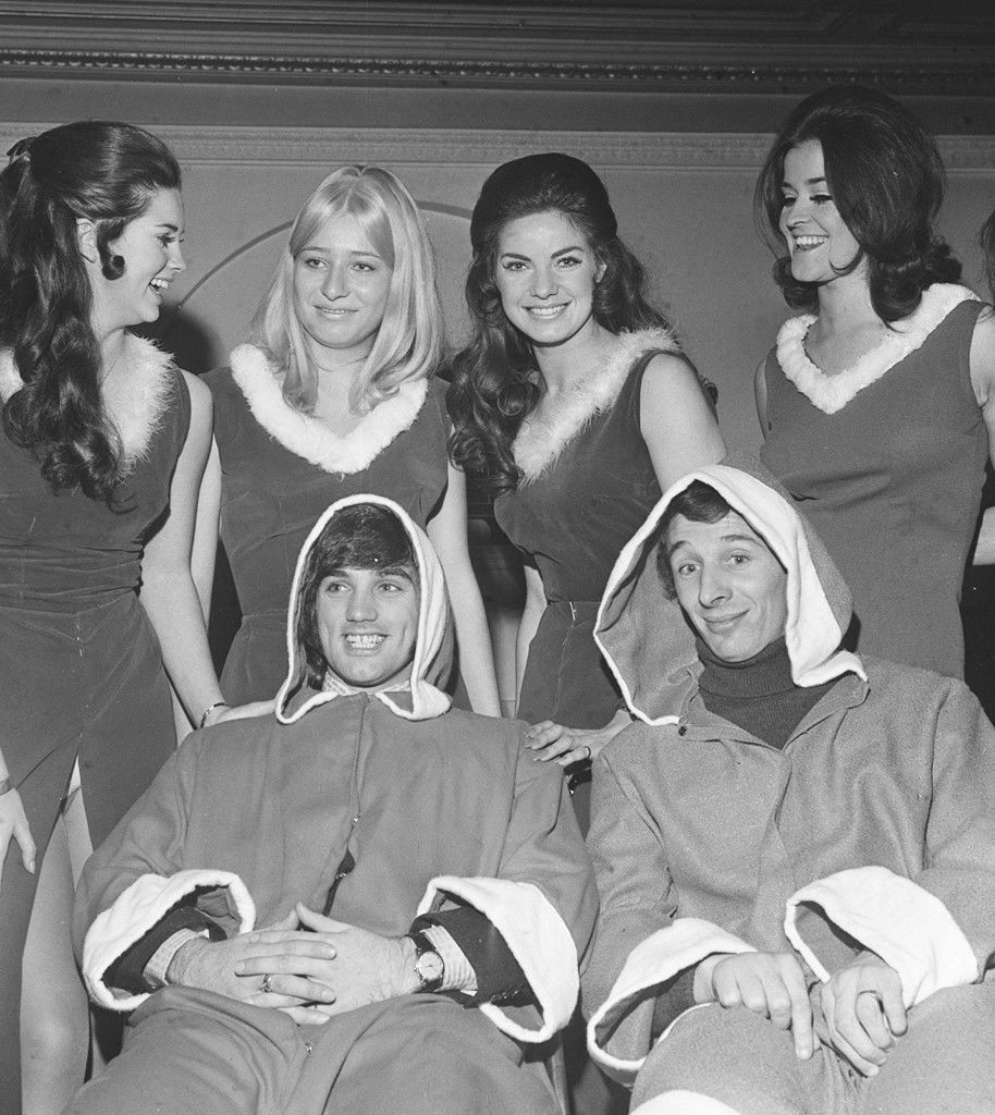 George Best smiles as he poses in a Santa Claus outfit to be worn at a Charity Film Premiere. Ref #: PA.1667589  Date: 16/12/1969