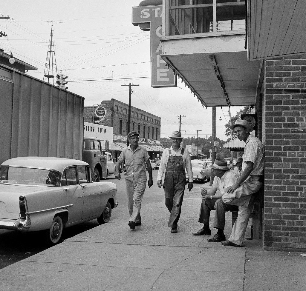 This street scene in Poplarville, Miss., looks like it could be a copy of many Main Streets in many southern U.S. towns, shown June 3, 1959. But the community is troubled in the wake of the lynching of Charles Mack Parker, 23-year-old black man, who was dragged from jail April 24. He had been charged with raping a pregnant white woman. The general feeling among townspeople - at least what has been expressed - is the hope that authorities never catch the men who lynched Parker. This feeling was heightened during the FBI investigation of the case. (AP Photo)