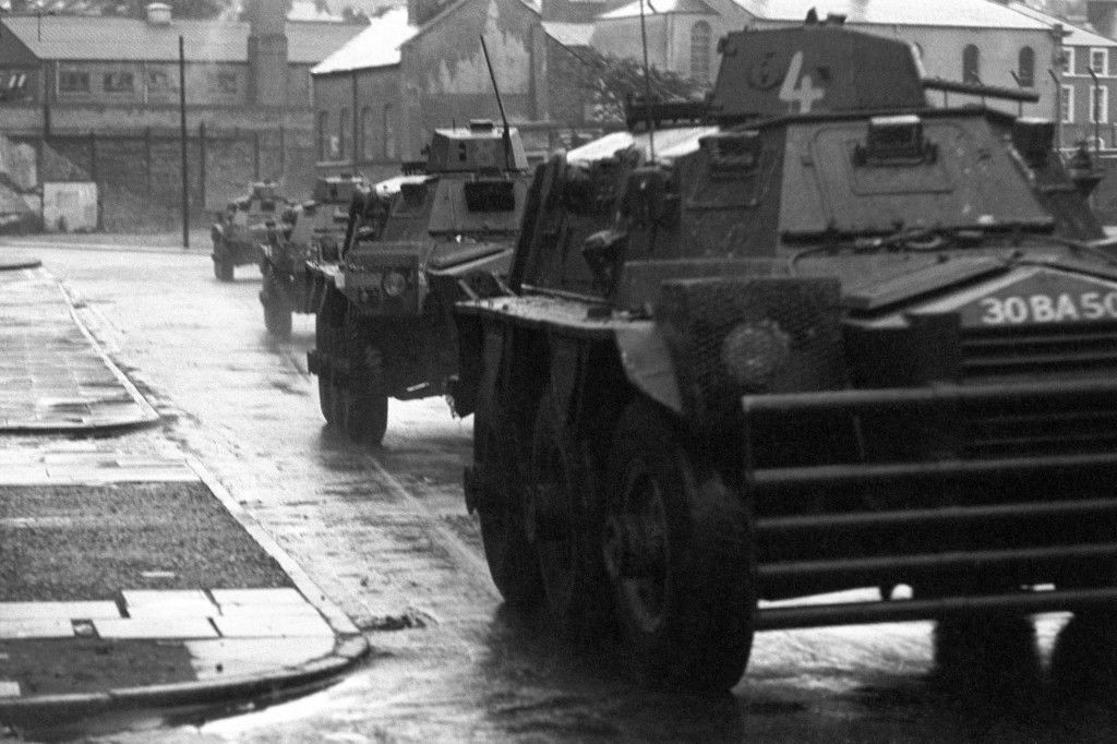 Ferret armoured cars of the British Army Ref #: PA.7427666  Date: 31/07/1972