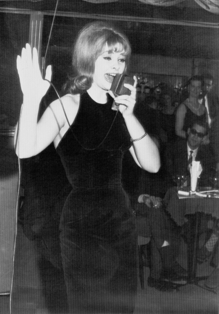 ice-Davies, British playgirl, performs in a Munich, Germany, night club on Jan. 8, 1964. Mandy was the roommate of call girl Christine Keeler and one of the principals in the John Profumo sex and security scandal. (AP Photo) Ref #: PA.8600588  Date: 08/01/1964