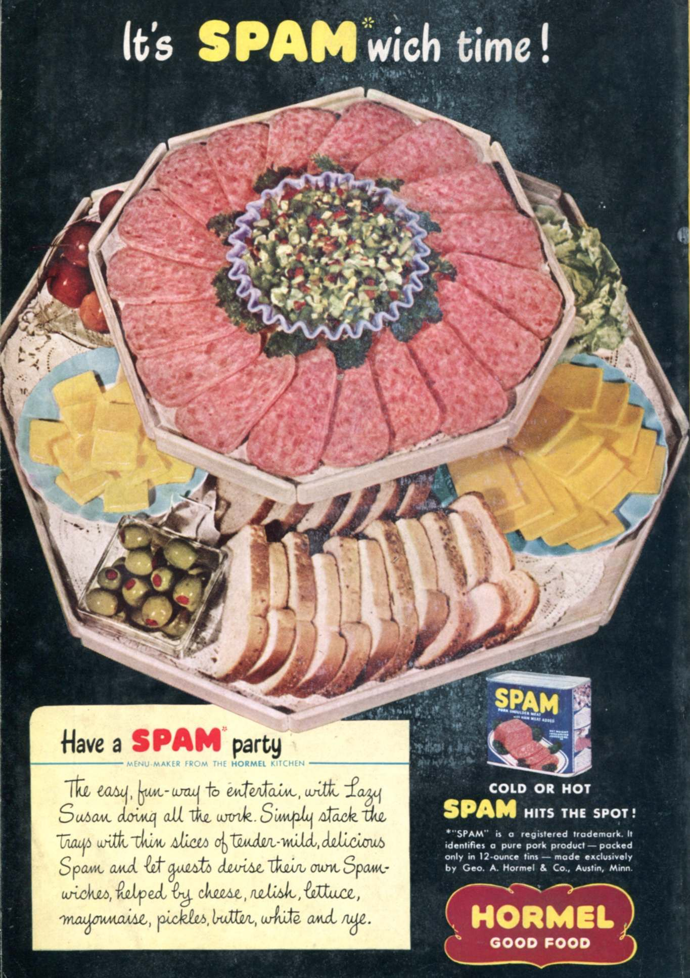 Spam Hormel Food Advertising National Geographic July 1947