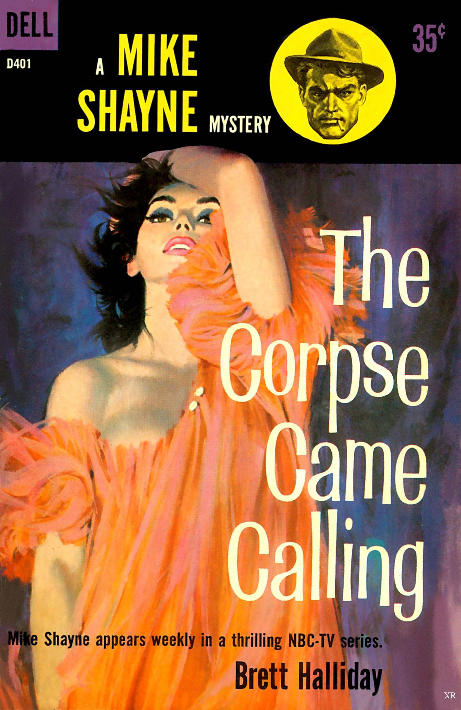 The Corpse Came Calling by Brett Halliday, 1959.