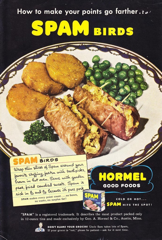 Uncle Sam Must Cook A Lot of Spam Birds National Geographic, 1944
