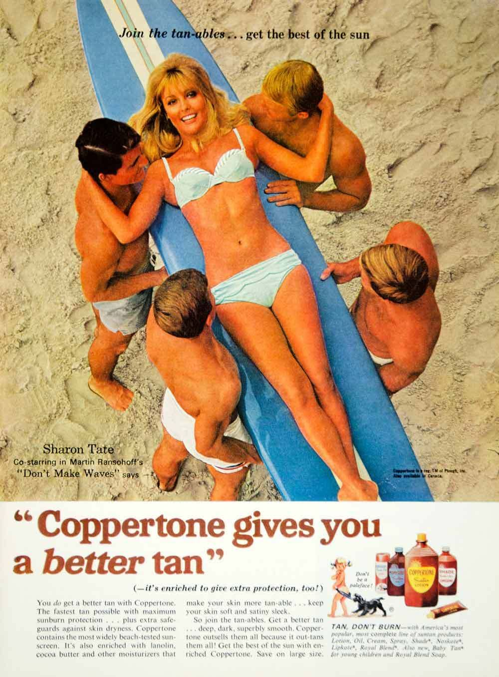 sharon tate advert tanning