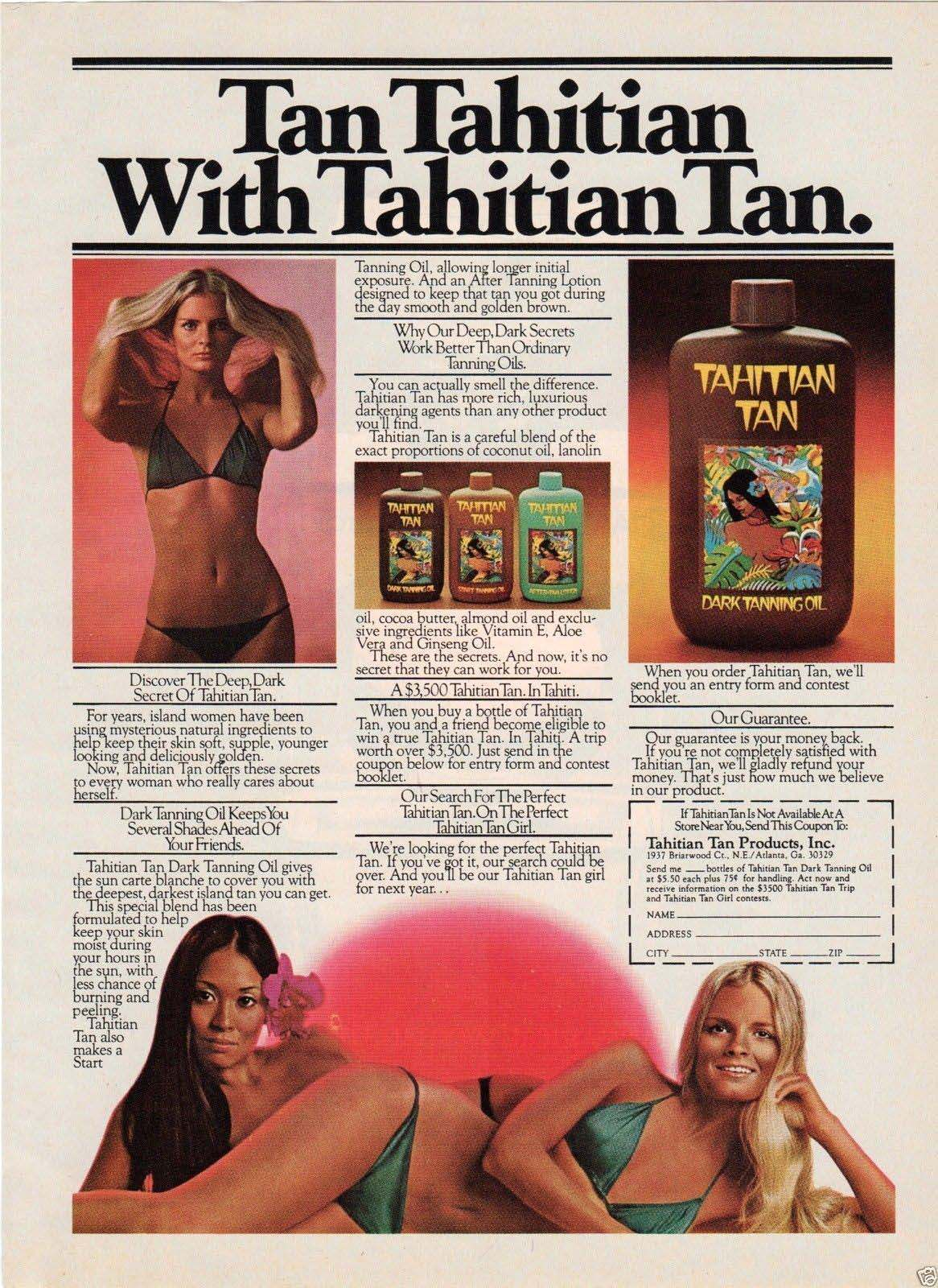 tan advert