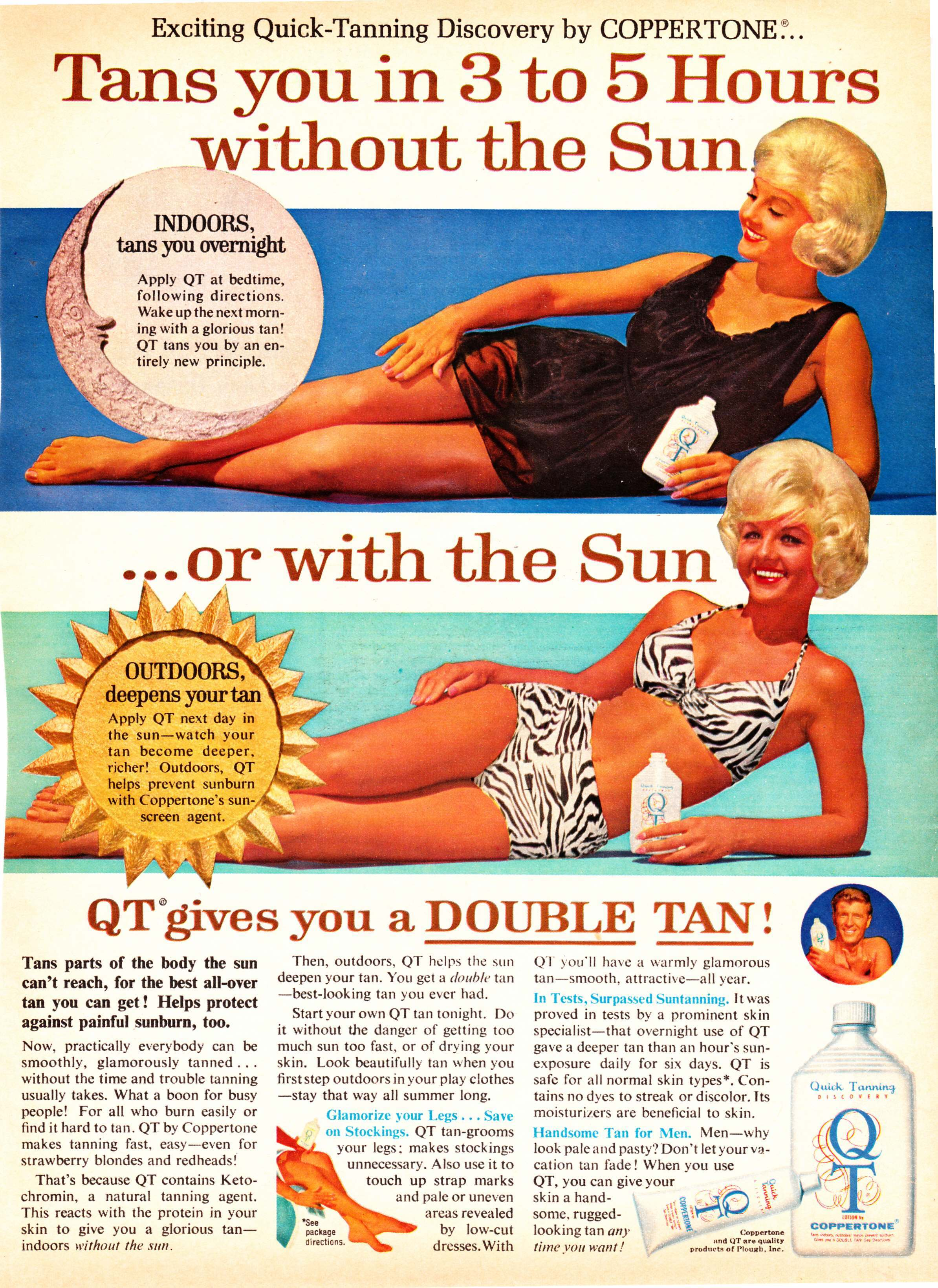 Image result for 80s fake tan ads