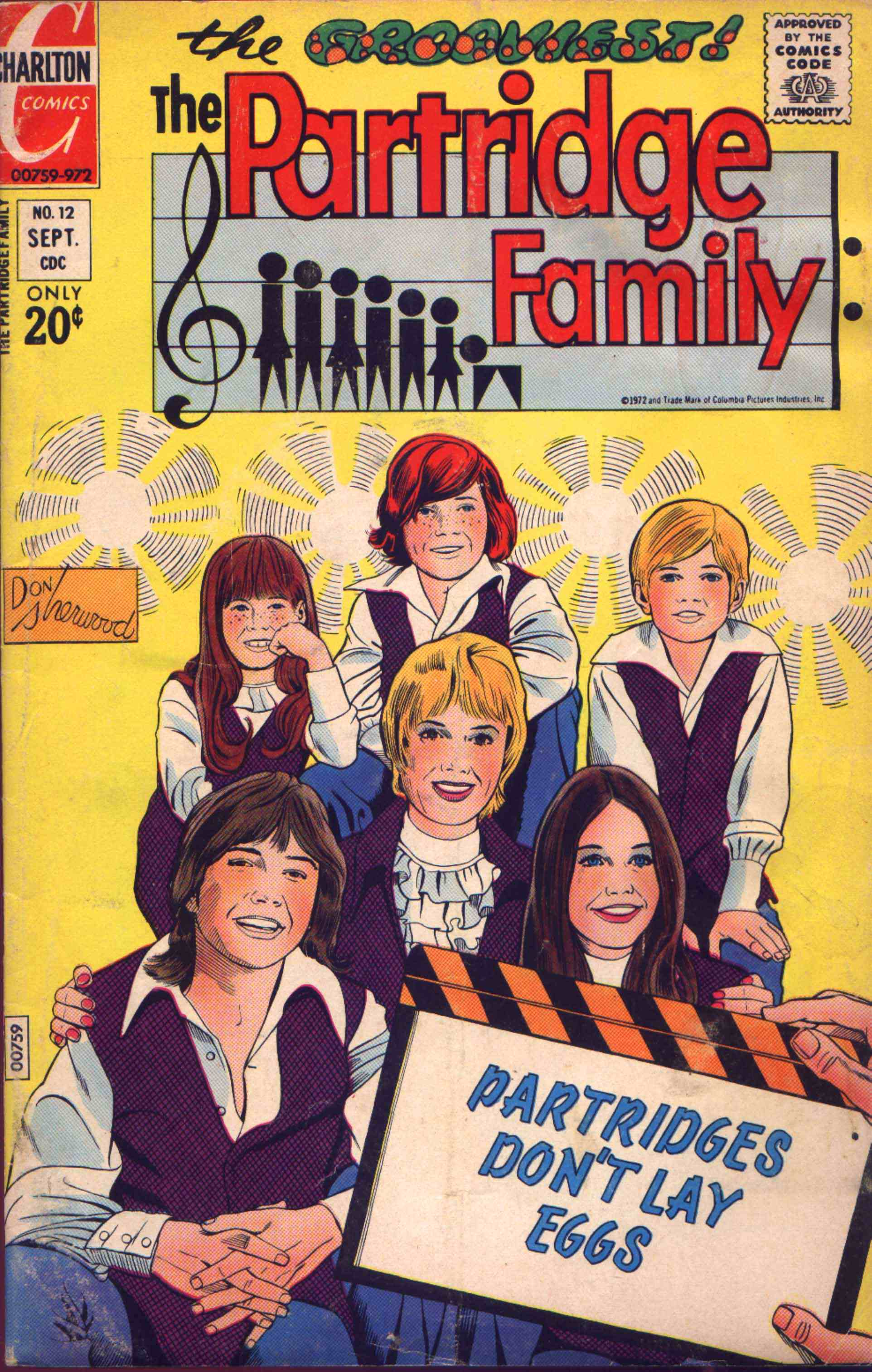 The Partridge Family, Vol.2 No.12 (September 1972) Charlton