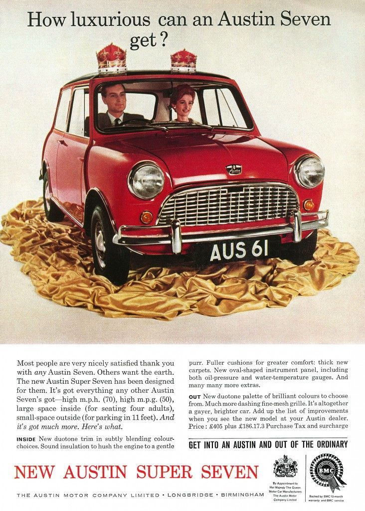 Mini advertising advert