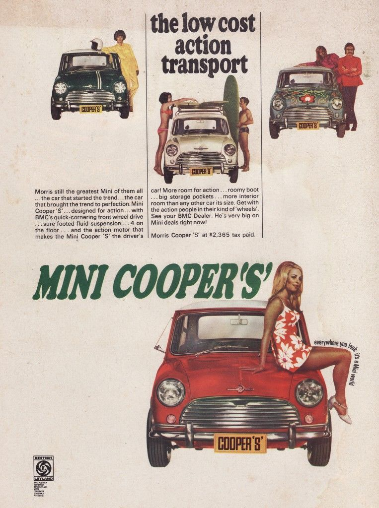 Mini Cooper advertising advert