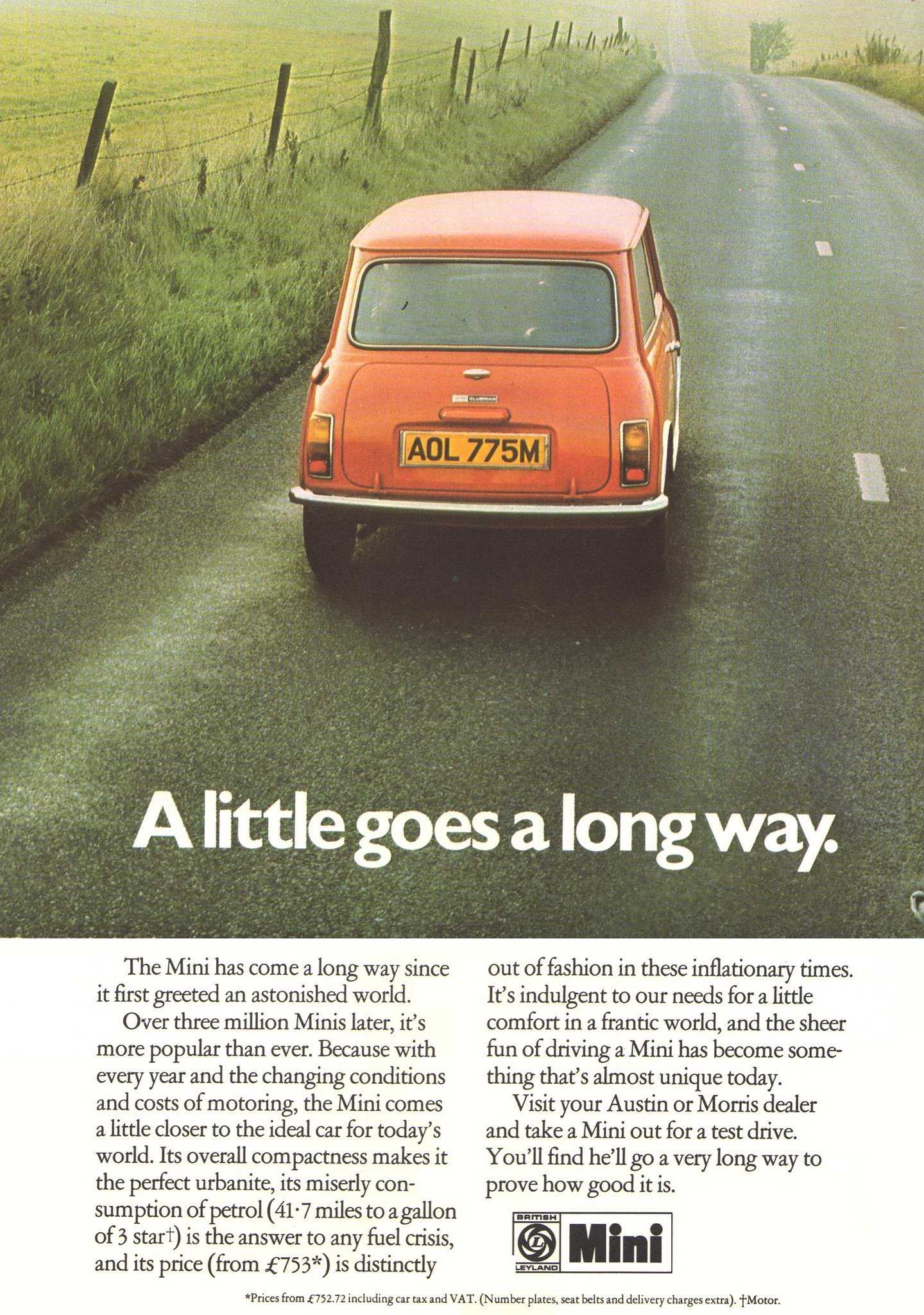 Leyland Mini advertising advert