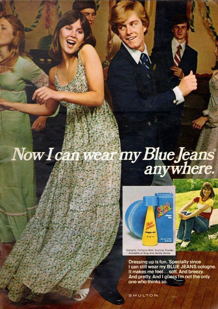 1976 Vintage ad for BLUE JEANS cologne