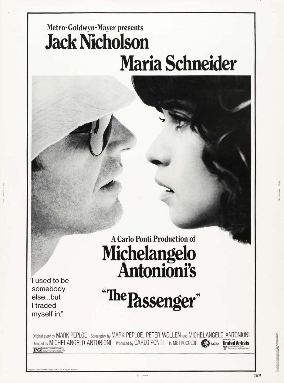 Poster for The Passenger released in 1975.