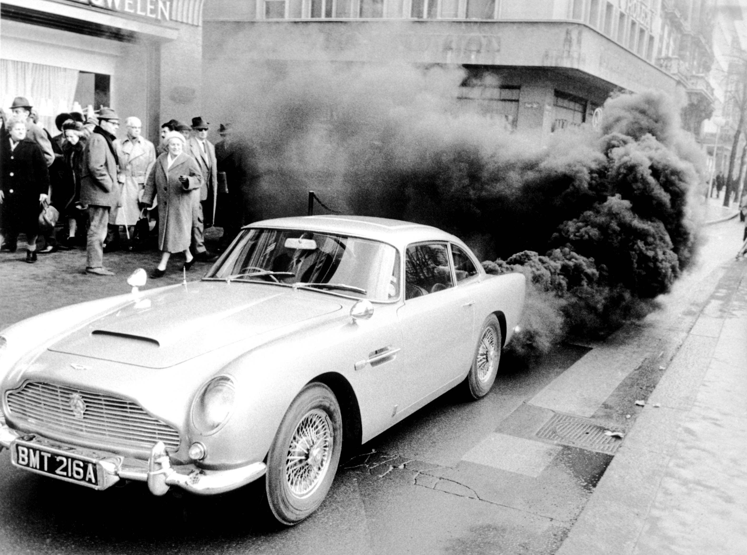 Aston Martin DB5 in Zurich, Switzerland around Feb. 16, 1965.