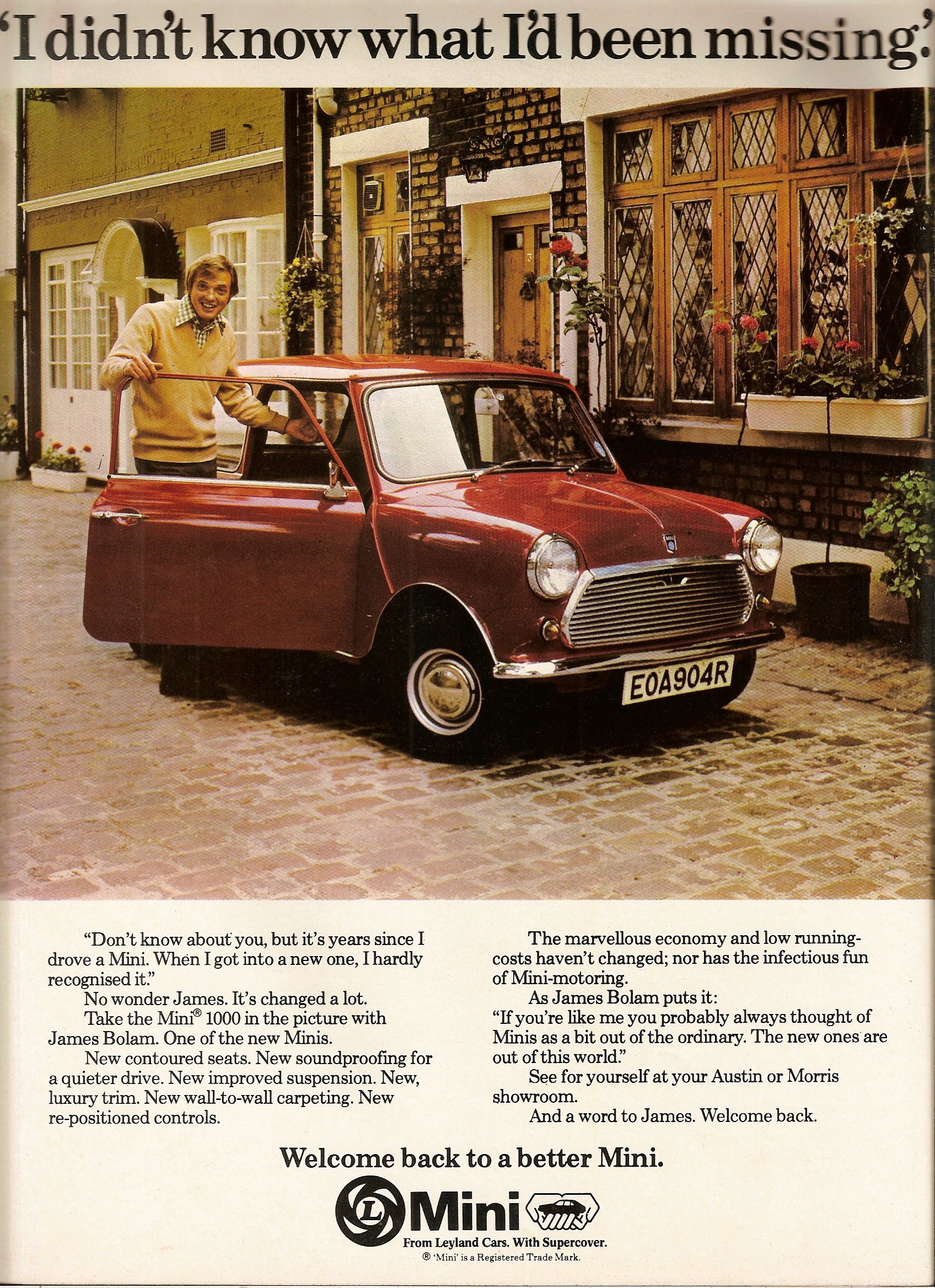 British Leyland mini advertising advert