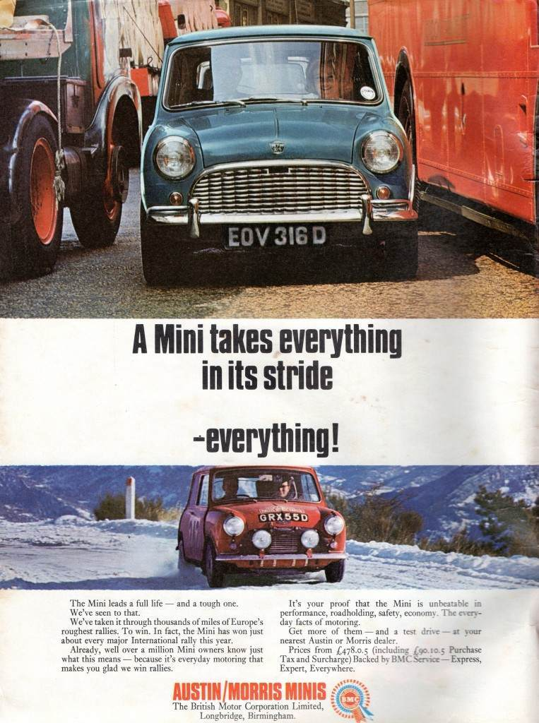 Austin Morris Mini advert 1967