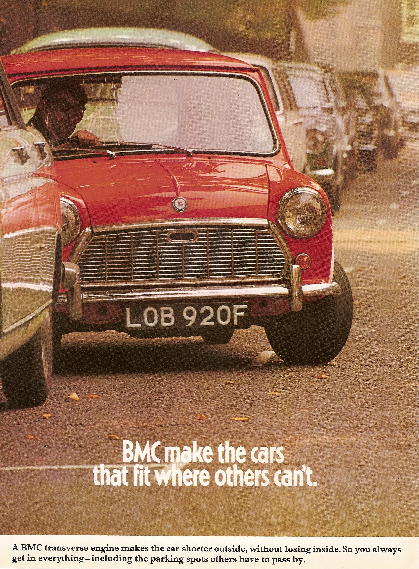 BMC Mini advertising advert