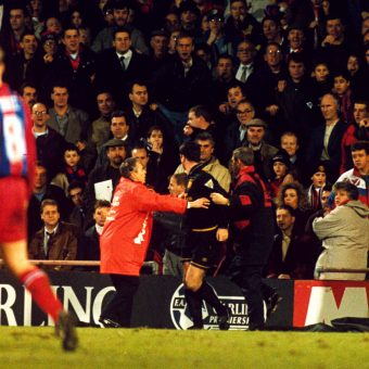 When Eric Cantona had his Queen Mother moment: 25 January 1995