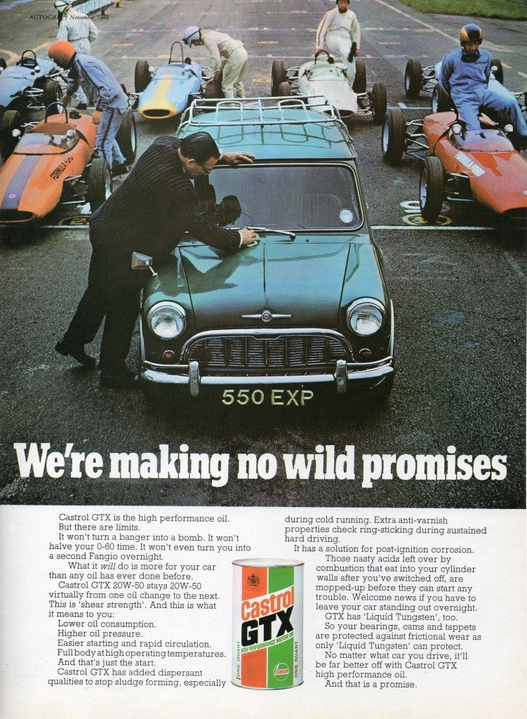 Mini advertising adverts ad