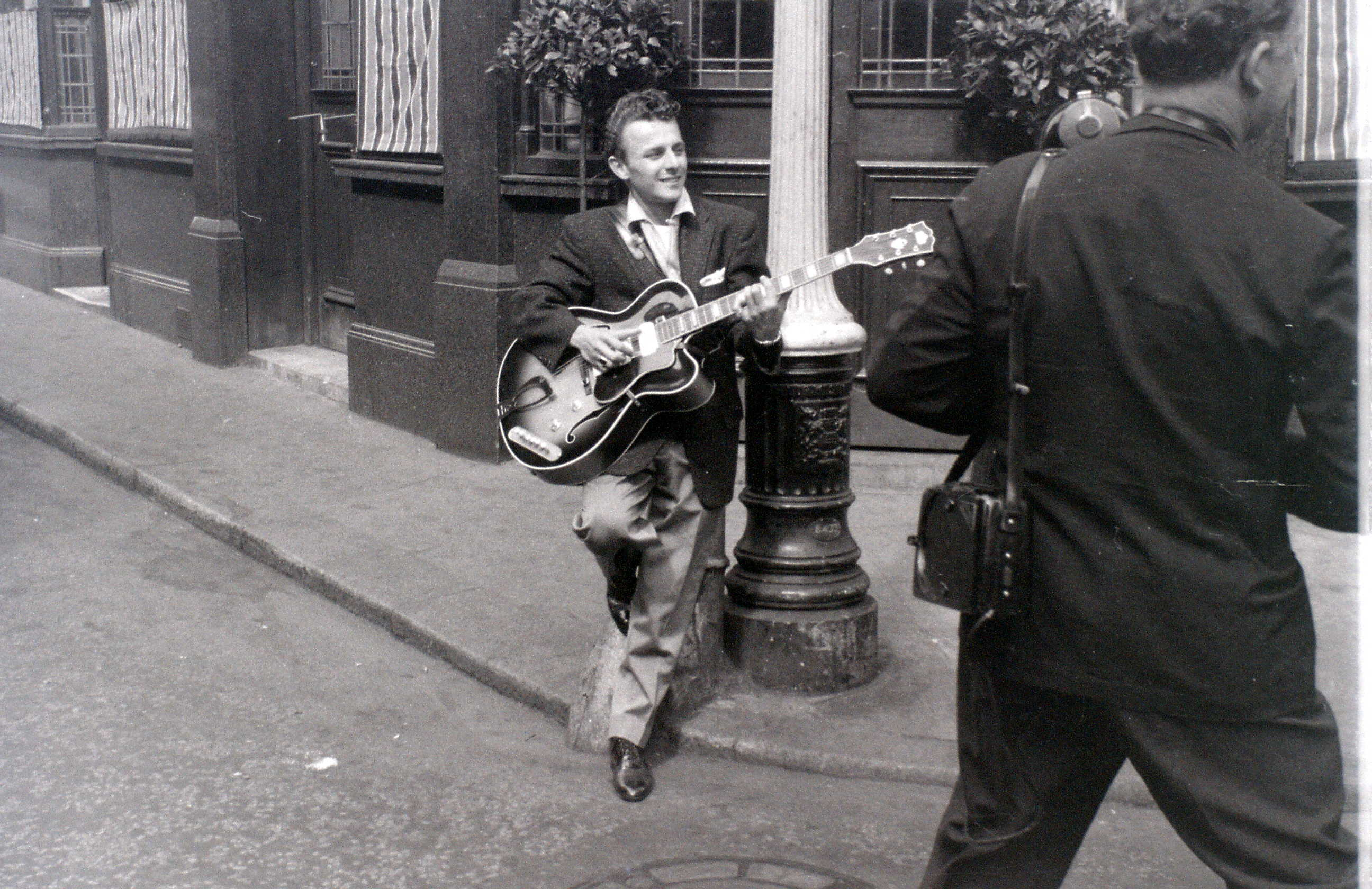 Charlie Gracie posing for promotional photos in London, c.5 August 1957