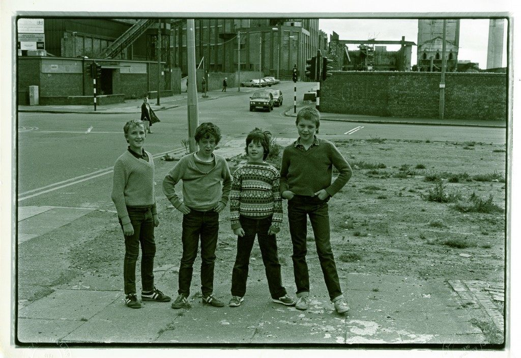 Four lads, Vauxhall Road.