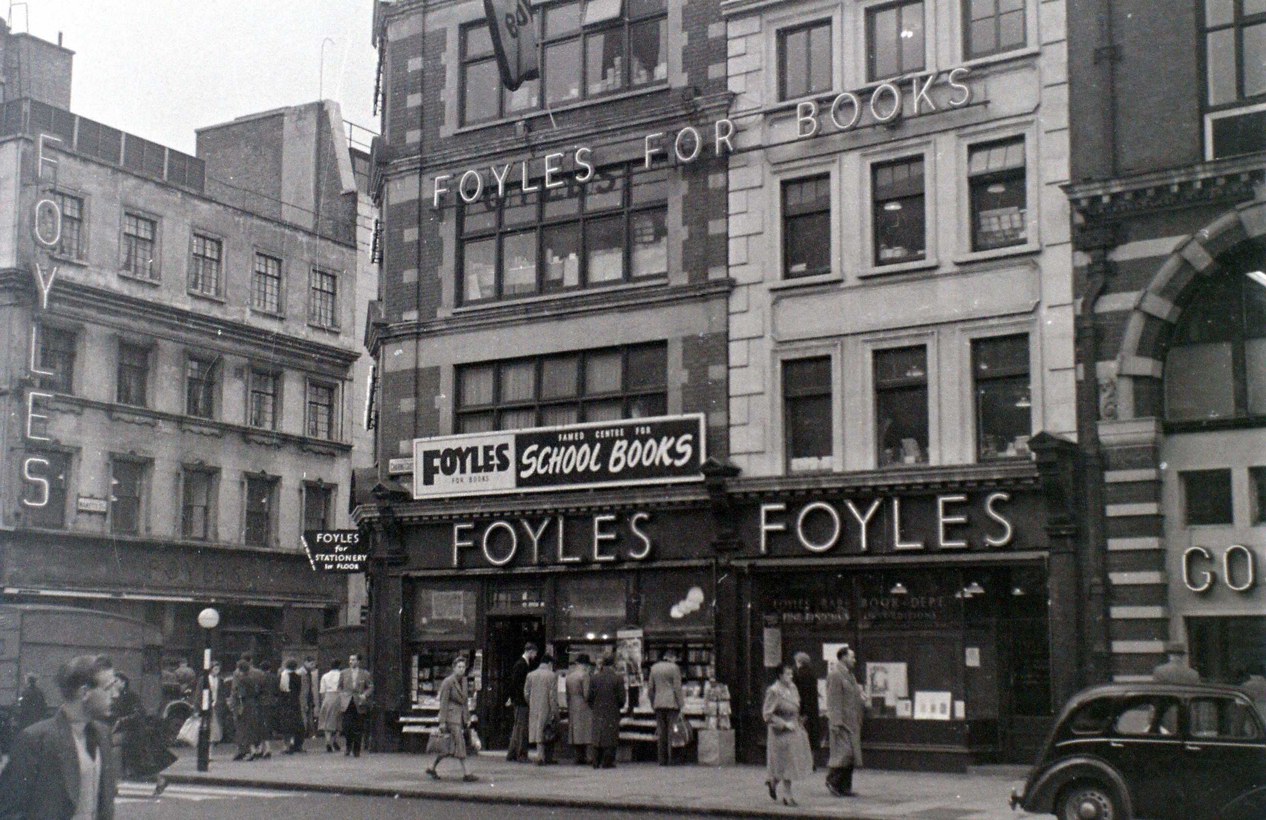 Foyle's Bookshop, Charing Cross Road, London, 5 November 1955
