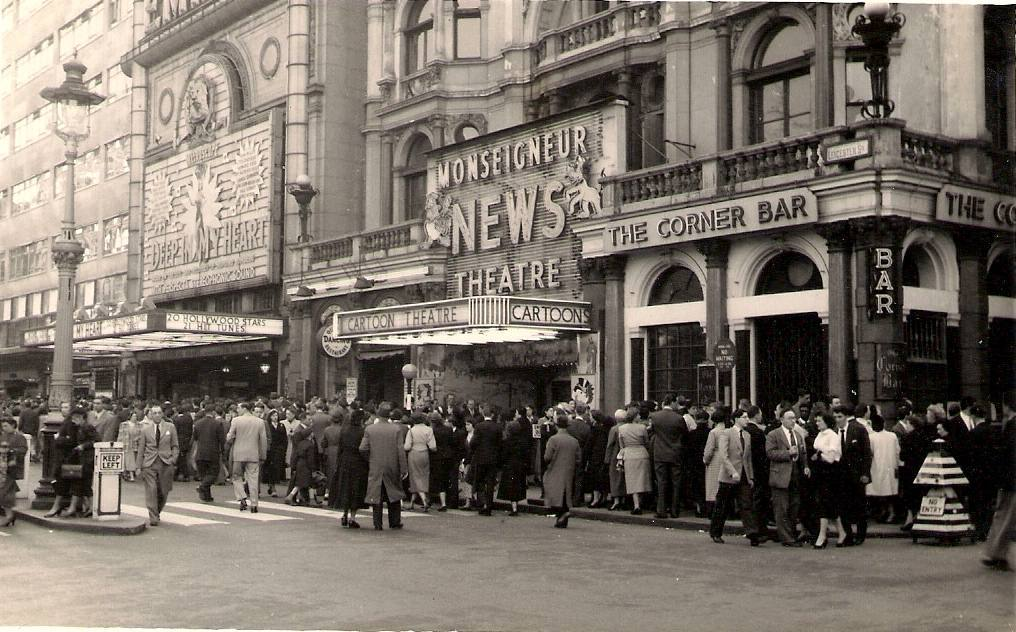 Leicester Square, London, 11 April 1955.