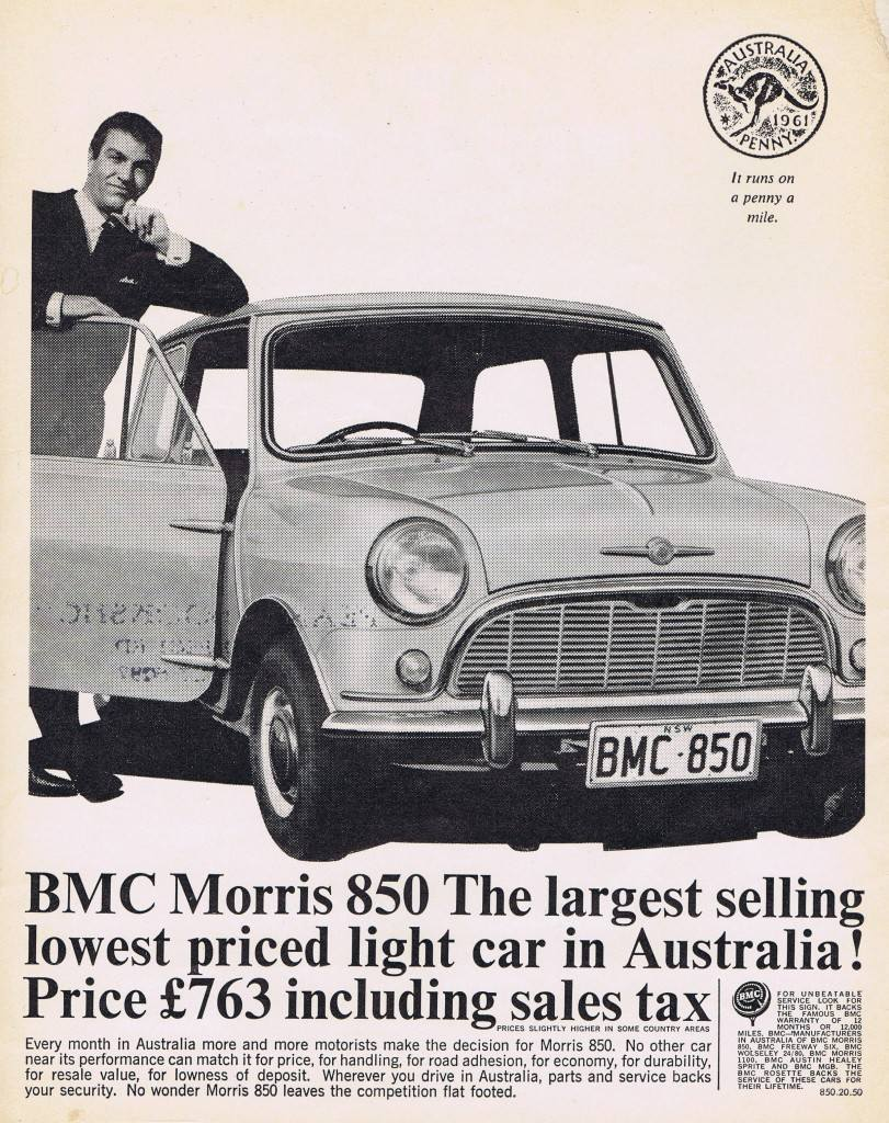 BMC Morris 850 Mini advertising advert