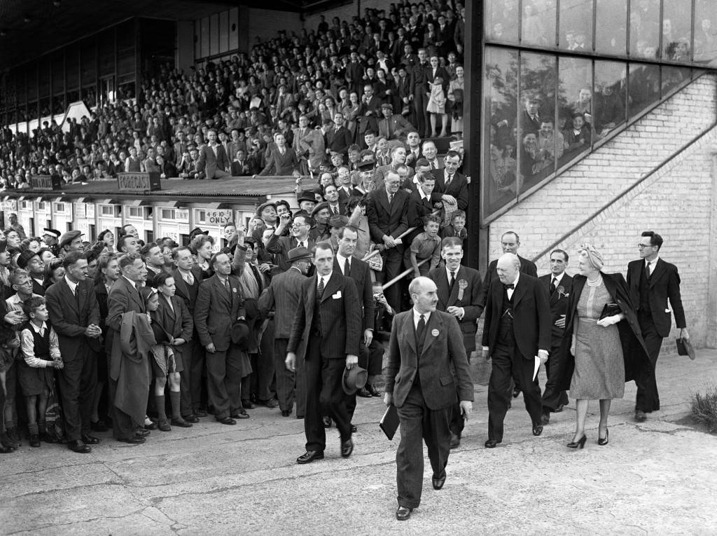 World War Two - Prime Minister Winston Churchill - London - Walthamstow Stadium
