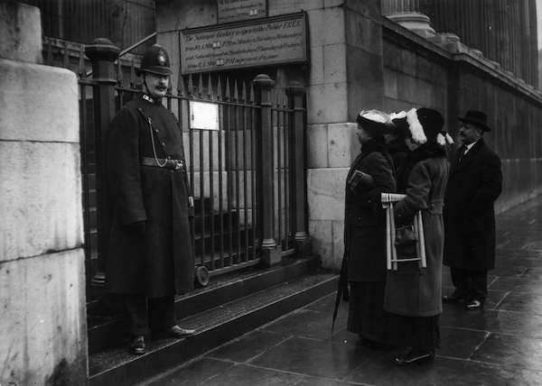 12th March 1914. The National Gallery was closed for two weeks after the attack on the Rokeby Venus.