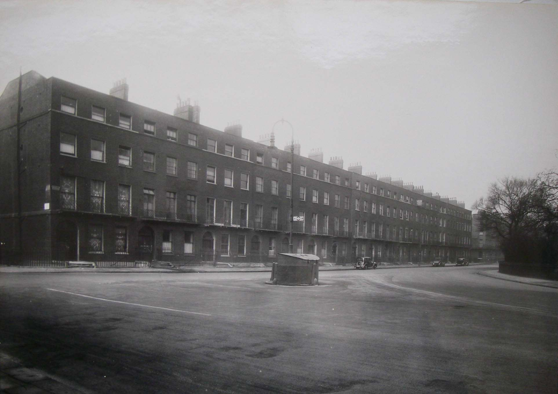 The original terrace in Bloomsbury where the Brunswick Centre is now.