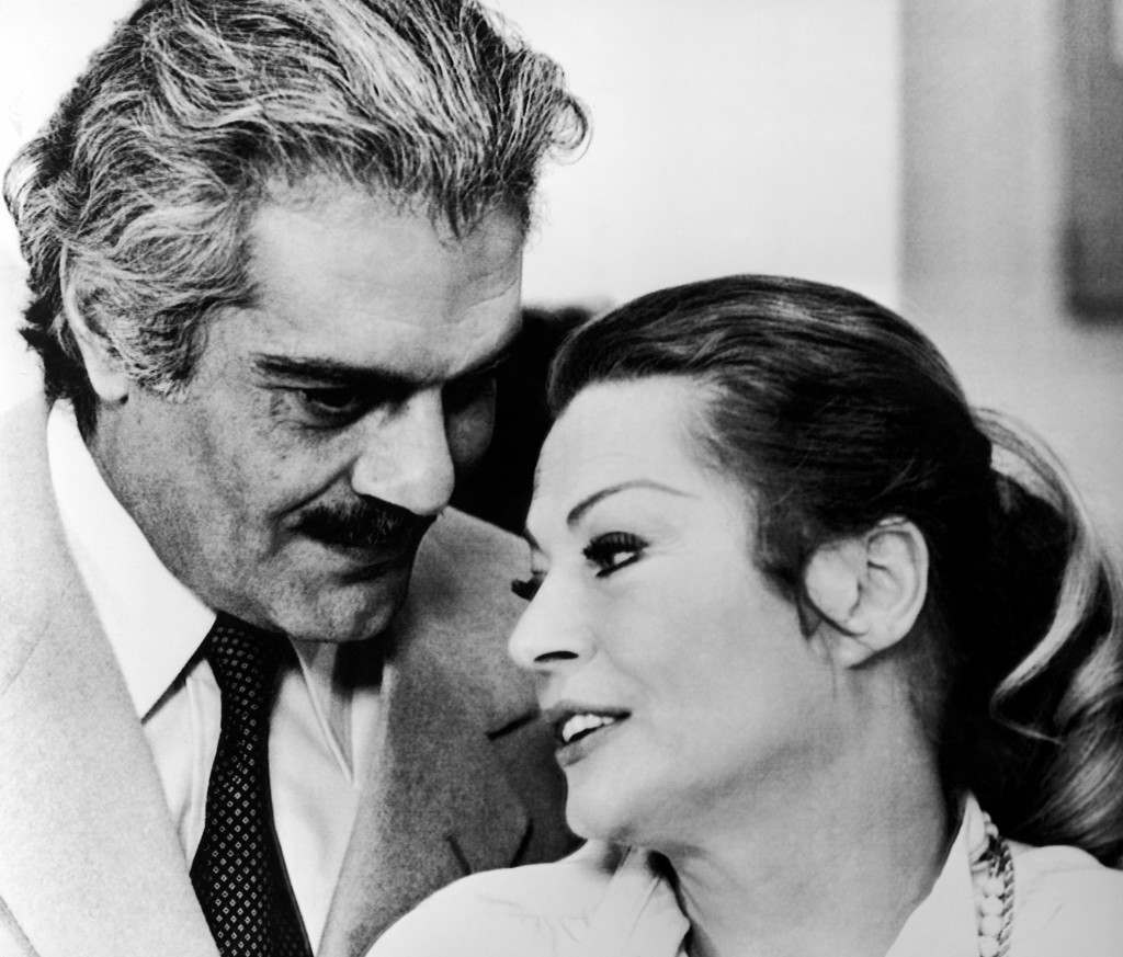 Italy Rome Anita Ekberg and Omar Sharif