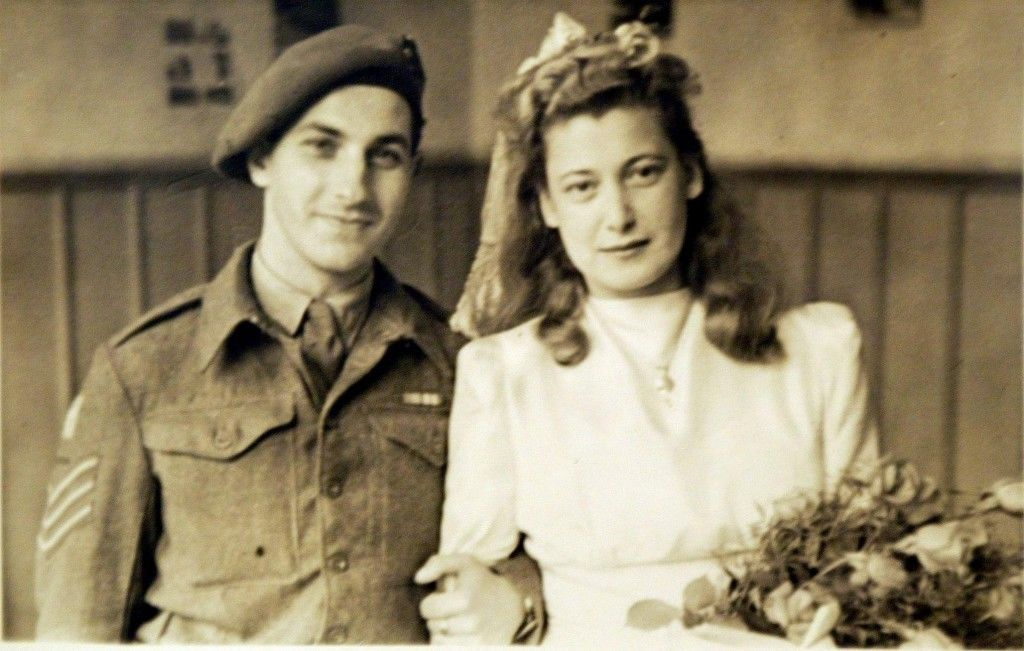 Family handout photo of dated 7th October 1947 of Norman and Gena Turgel on their wedding day in Germany. Gena Turgel entered the gas chamber at Auschwitz and lived to tell the tale. In the winter of 1944, the 21-year-old was made to strip naked with her mother inside the concentration camp's extermination block and wait, but miraculously the deadly poison was never released. However the 81-year-old found something in the death camps that she never expected - love, in the form of her husband Norman. A Jewish soldier with the British Intelligence Corps, Norman Turgel was one of the first liberators to enter Belsen on April 15, 1945 and was charged with rounding up the SS commanders. Gena, whose surname then was Goldfinger, was imprisoned in the camp after being sent there from Auschwitz. Ref #: PA.2230370