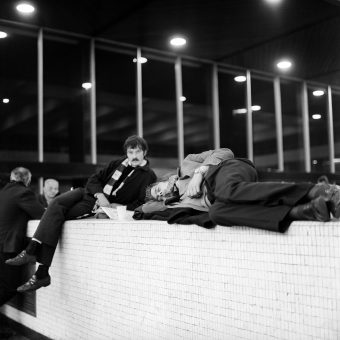 1970: Chelsea Fans Waiting For The FA Cup Winners To Arrive at Euston Station