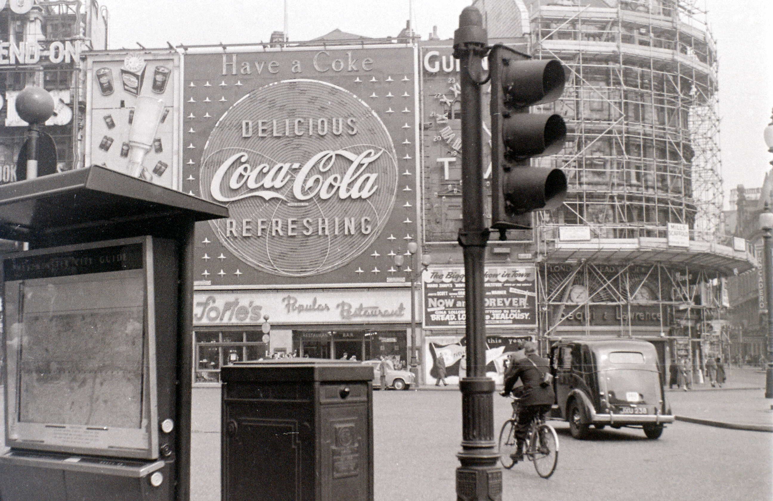 Piccadilly Circus, London, 2 April 1956.