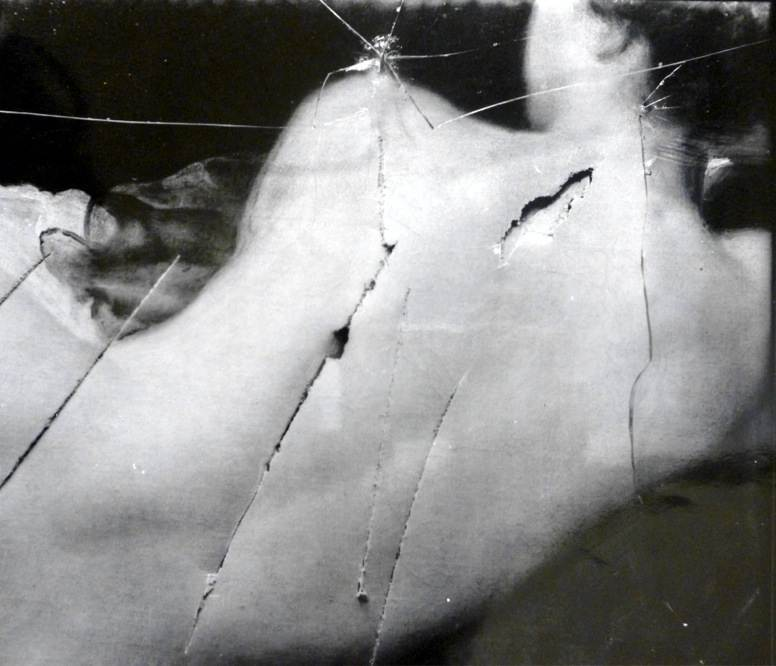 The damage caused by Mary Richardson's cleaver.
