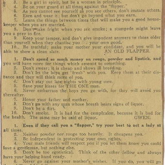 Ten Commandments For Flappers: 1922