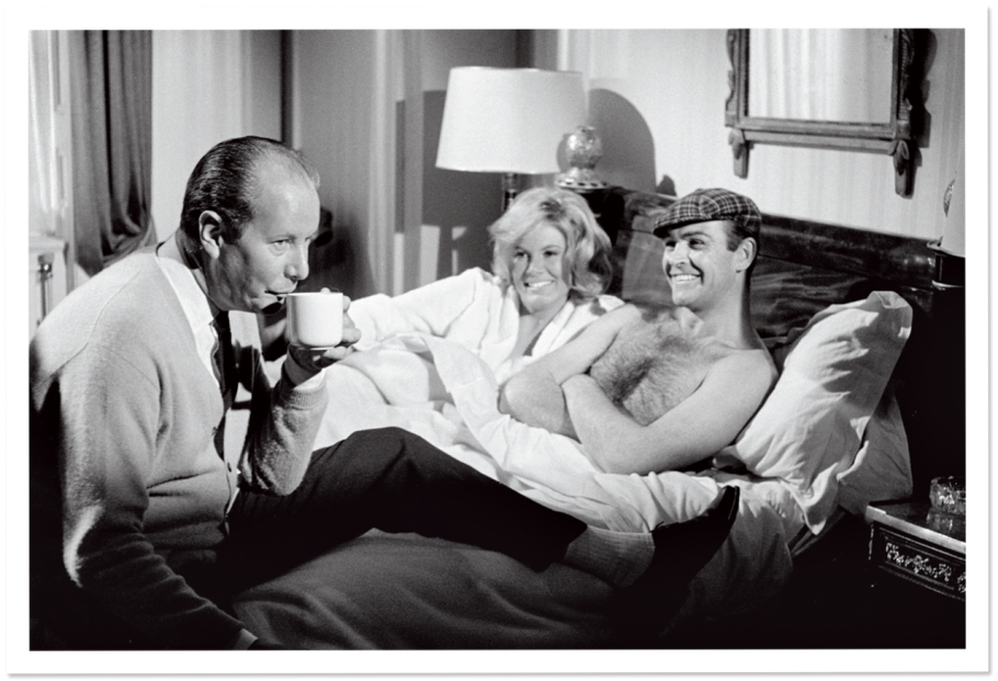 Terence Young, Molly Peters and Sean Connery