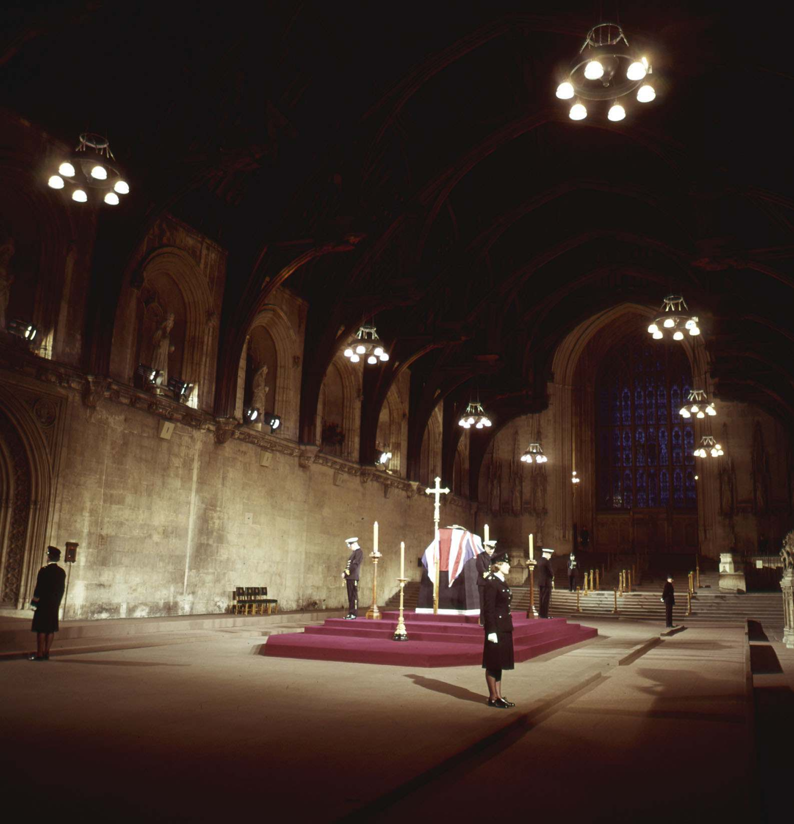 Politics - Sir Winston Churchill Lying in State - Westminster Hall, London