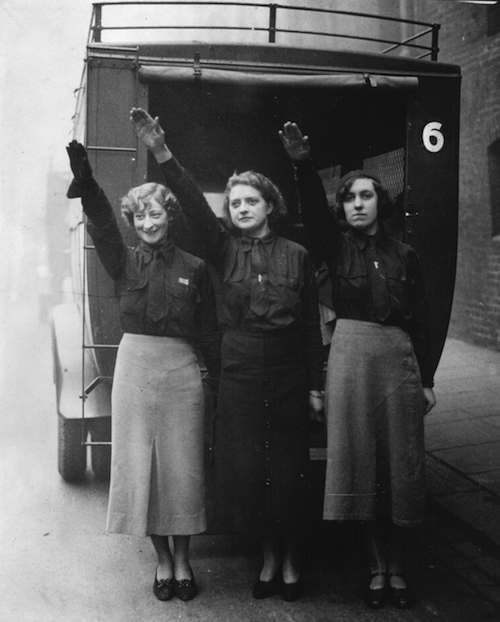 Three female blackshirts. c. 1934.